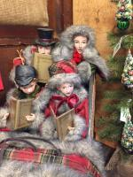 Victorian Carolers in Sleigh
